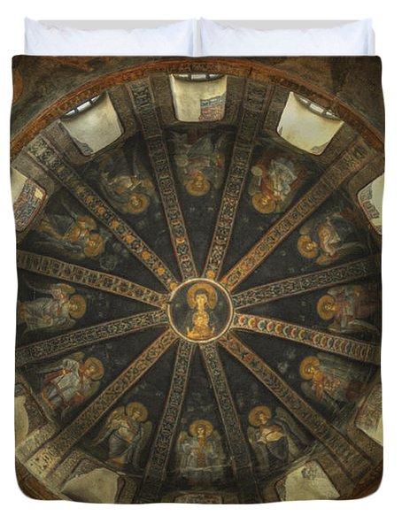 Virgin Mary Cupola Duvet Cover by Taylan Apukovska