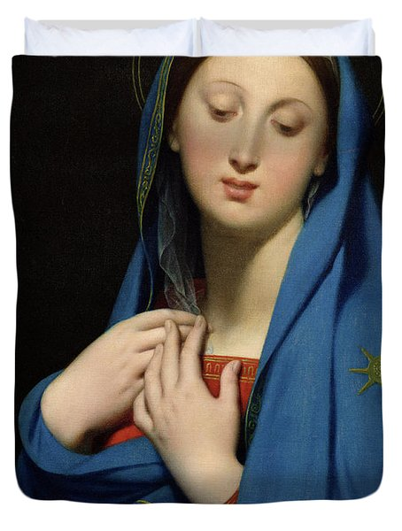 Virgin Of The Adoption Duvet Cover by Jean Auguste Dominique Ingres