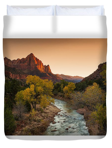 Virgin River Duvet Cover by Tassanee Angiolillo