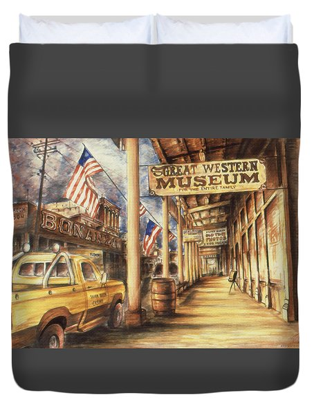 Virginia City Nevada - Western Art Painting Duvet Cover