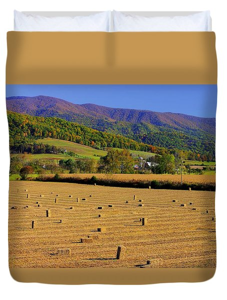 Virginia Country Roads - Autumn In The Shenandoah Valley - No. 1 Duvet Cover