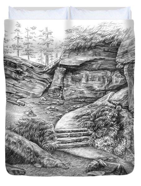 Virginia Kendall Ledges - Cuyahoga Valley National Park Duvet Cover