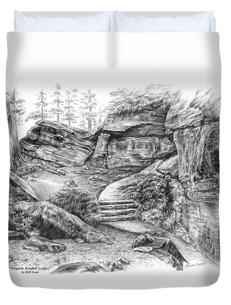 Virginia Kendall Ledges - Cuyahoga Valley National Park Duvet Cover by Kelli Swan