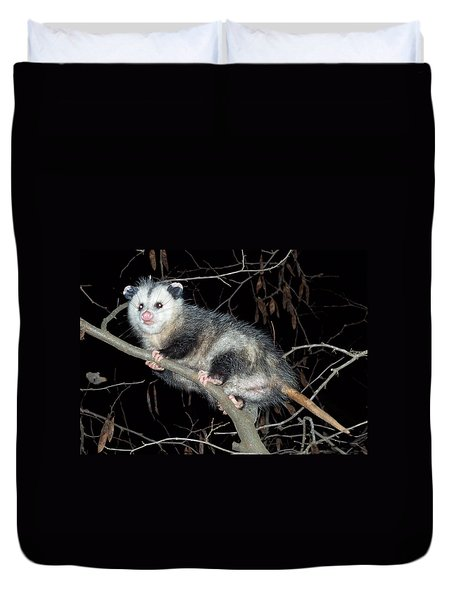 Virginia Opossum Duvet Cover