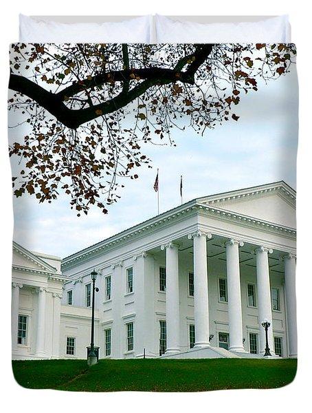 Virginia State Capitol In Autumn Duvet Cover