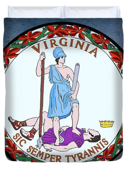 Virginia State Seal Duvet Cover by Movie Poster Prints