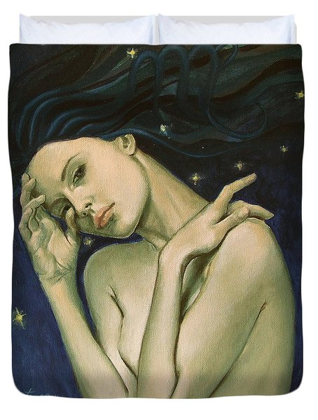 Virgo  From Zodiac Series Duvet Cover by Dorina  Costras