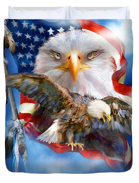 Vision Of Freedom Duvet Cover by Carol Cavalaris