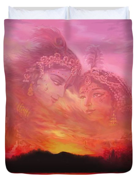 Vision Over The Yamuna Duvet Cover