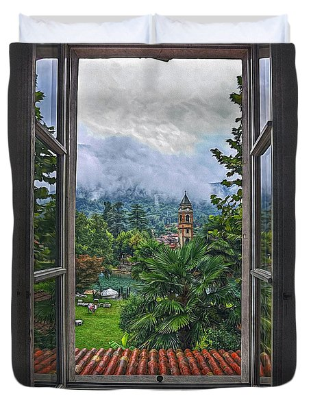 Vision Through The Window Duvet Cover by Hanny Heim