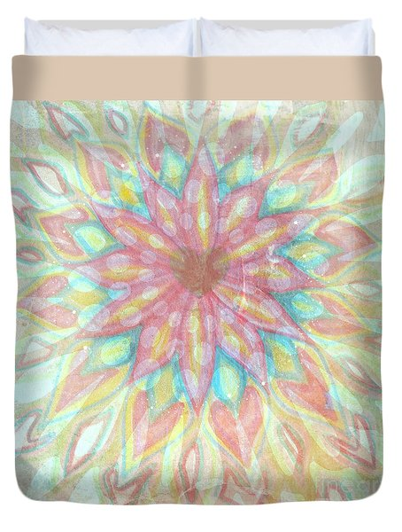 Visionary Crown Chakra Duvet Cover by Sacred  Muse