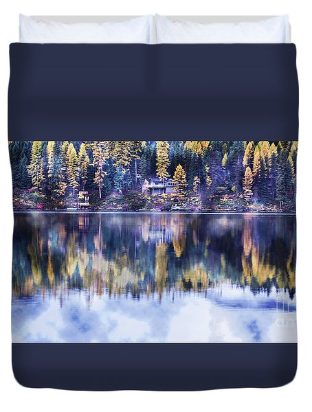 Duvet Cover featuring the photograph Visions- Lake Inez by Janie Johnson