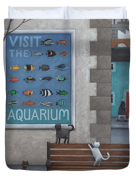 Visit The Aquarium Duvet Cover