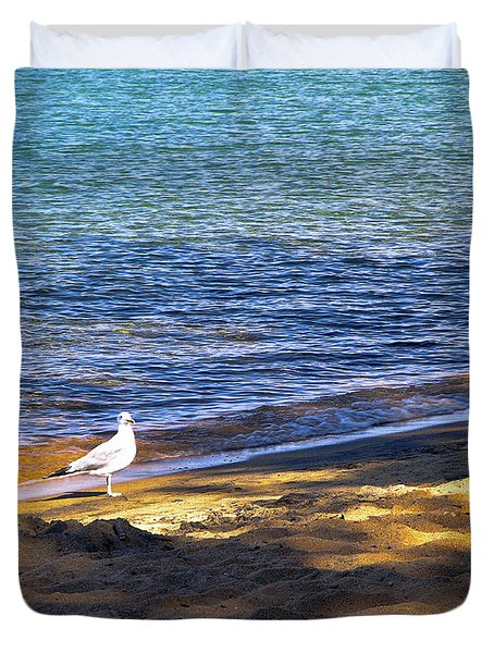 Visitor - Lake Tahoe Duvet Cover