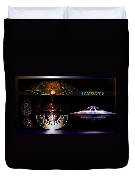 Duvet Cover featuring the digital art Visitor To Atlantis by Hartmut Jager