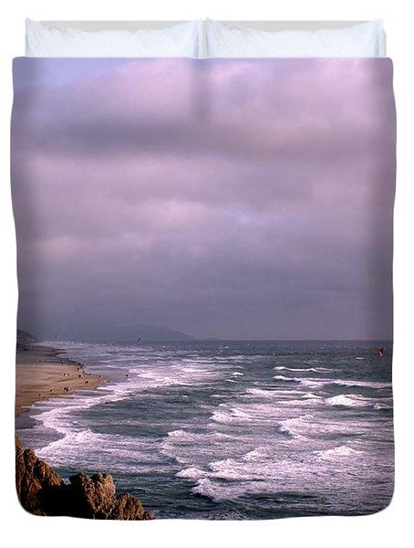 Vista Del Mar San Francisco Duvet Cover by M Bleichner