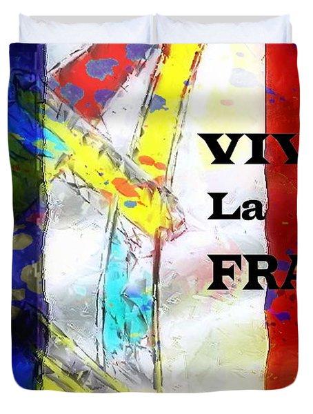 Vive La France Duvet Cover by Brian Raggatt