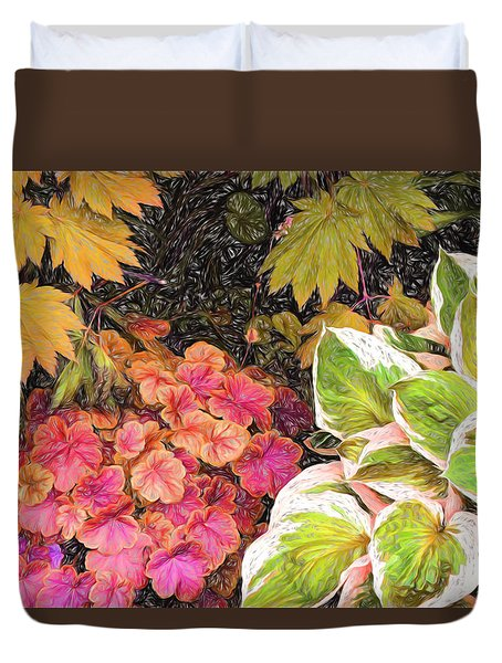 Vivid Flora Duvet Cover by Terry Cork