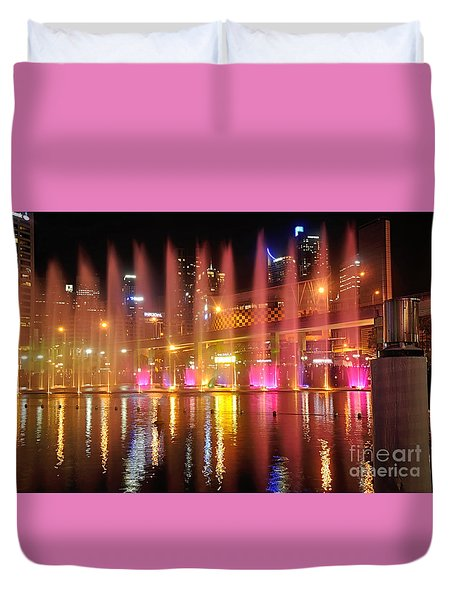 Vivid Sydney By Kaye Menner -  Vivid Aquatique  Duvet Cover by Kaye Menner