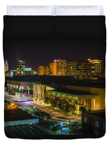 Vividly Downtown Baton Rouge Duvet Cover