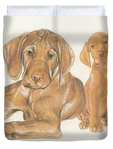Vizsla Puppies Duvet Cover