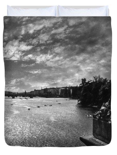 Vltava Duvet Cover by Taylan Apukovska
