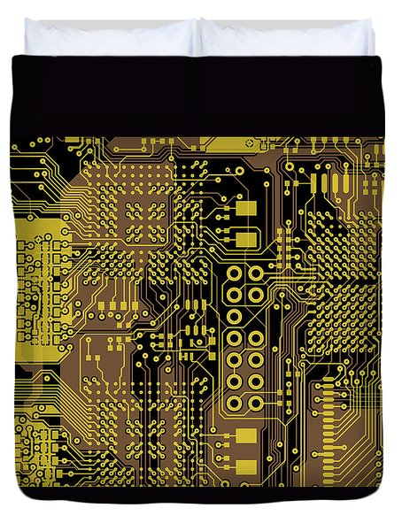 Vo96 Circuit 5 Duvet Cover by Paul Vo