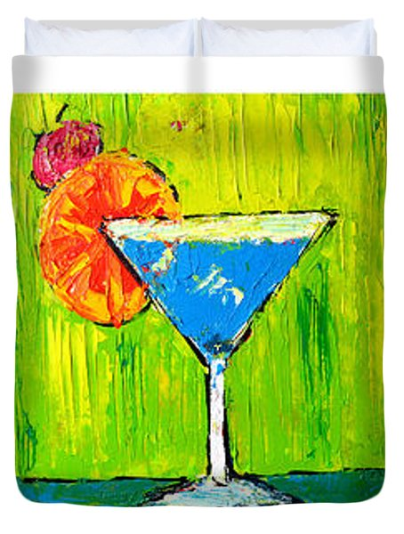 Vodka Martini Collection Bar Decor - Modern Art Duvet Cover