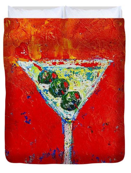 Vodka Martini Shaken Not Stirred - Martini Lovers - Modern Art Duvet Cover