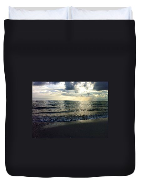 Voice Of A Sunset Duvet Cover by Kicking Bear  Productions