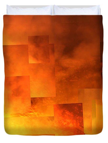 Volcanic Fire - Kilauea Caldera  Duvet Cover