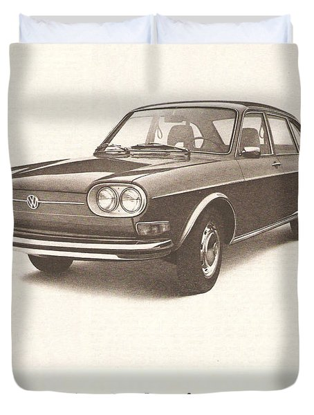 Volkswagen 411 Duvet Cover by Georgia Fowler