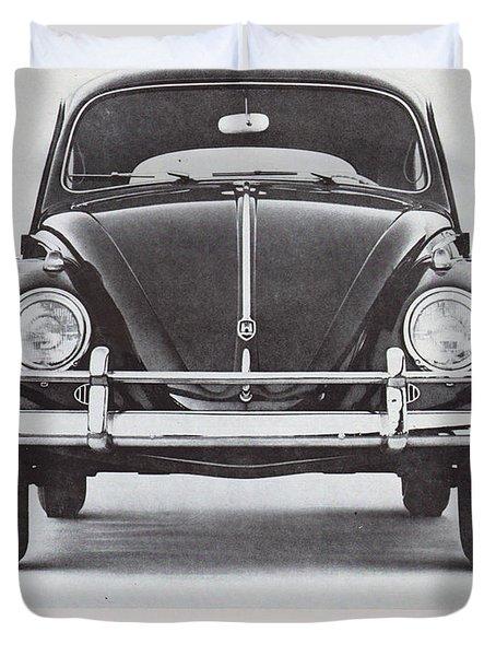 Volkswagen Beetle Duvet Cover by Georgia Fowler