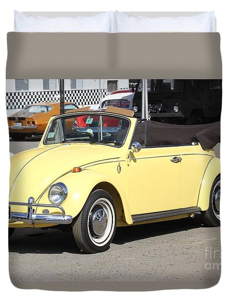 Duvet Cover featuring the photograph Volkswagen Convertible Vintage by The Art of Alice Terrill