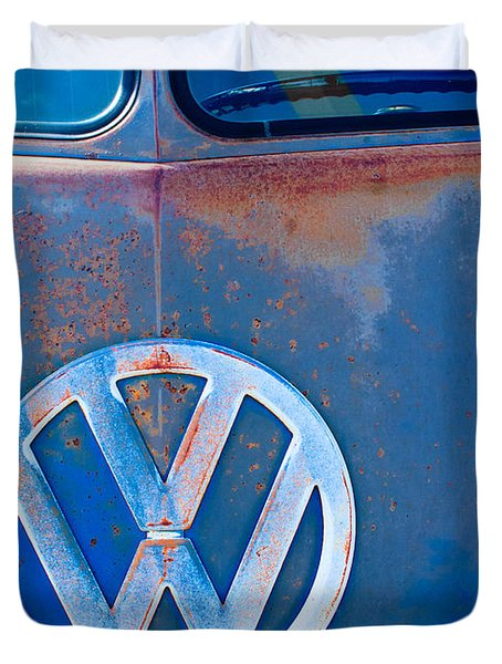 Volkswagen Vw Bus Emblem Duvet Cover