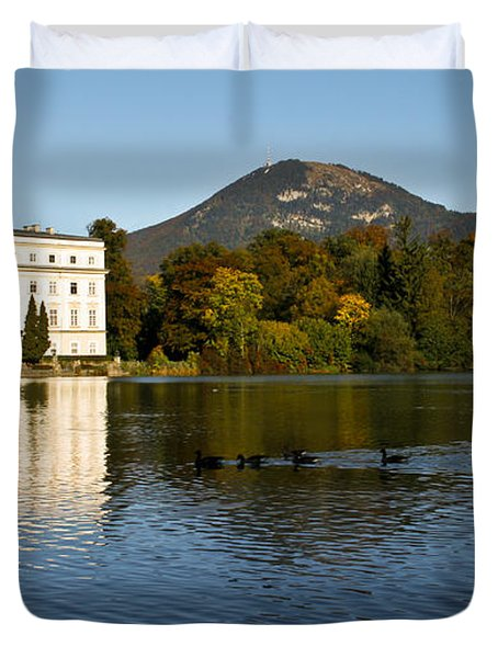 Duvet Cover featuring the photograph Von Trapp's Mansion by Silvia Bruno