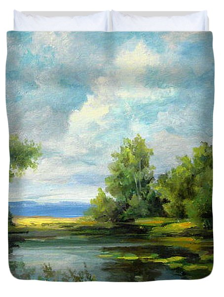 Voronezh River Beauty Duvet Cover