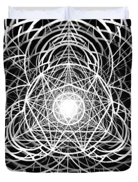 Duvet Cover featuring the drawing Vortex Equilibrium by Derek Gedney