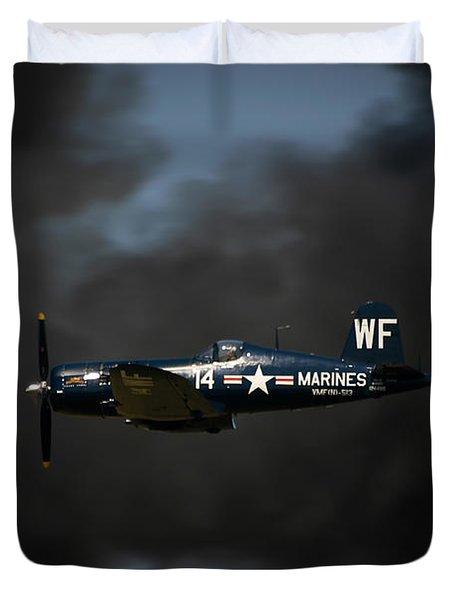 Vought F4u Corsair Duvet Cover by Adam Romanowicz