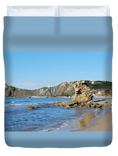 Duvet Cover featuring the photograph Vouno 2 by George Katechis