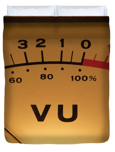 Vu Meter Illuminated Duvet Cover