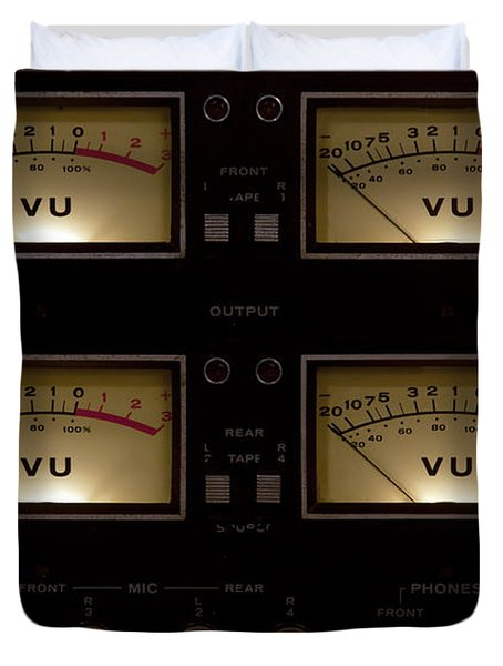 Duvet Cover featuring the photograph Vu Meter Input Output by Gunter Nezhoda