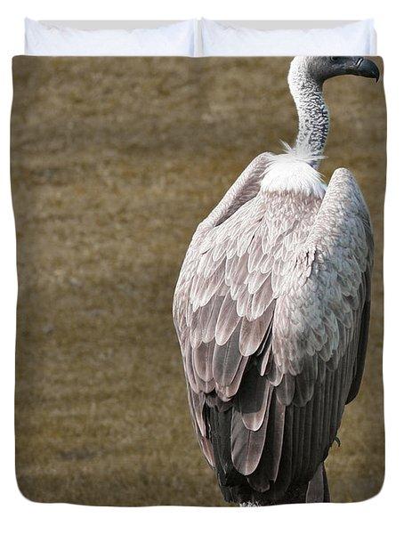 Vulture On Guard Duvet Cover