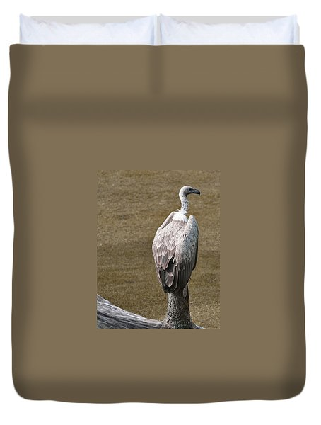 Vulture On Guard Duvet Cover