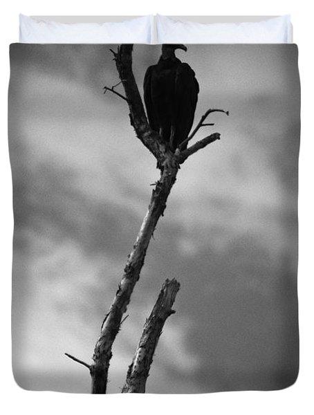 Vulture Silhouette Duvet Cover