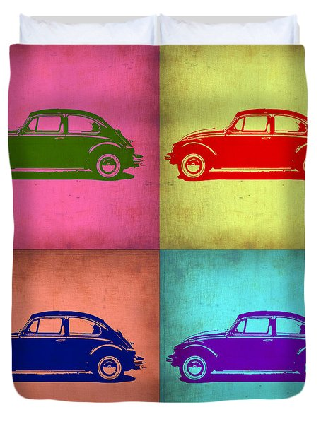 Vw Beetle Pop Art 1 Duvet Cover