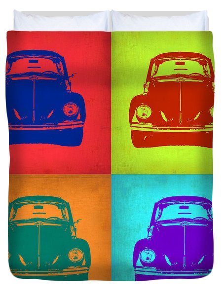 Vw Beetle Pop Art 5 Duvet Cover by Naxart Studio