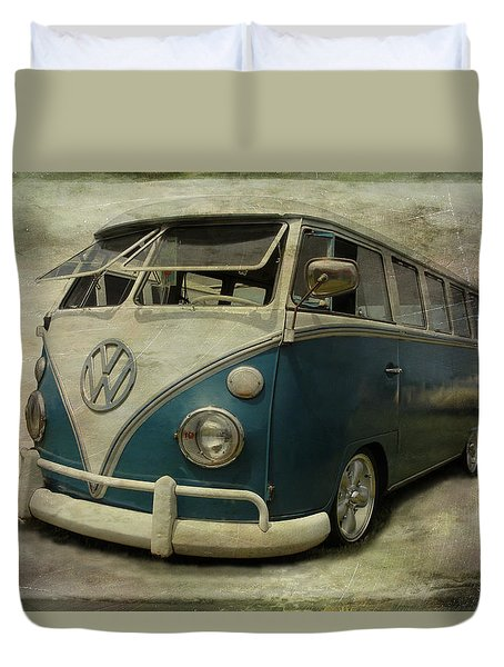 Vw Bus On Display Duvet Cover by Athena Mckinzie