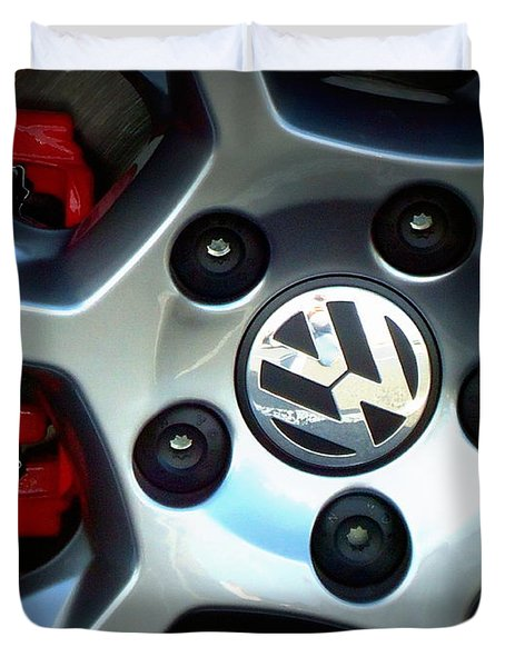 Vw Gti Wheel Duvet Cover
