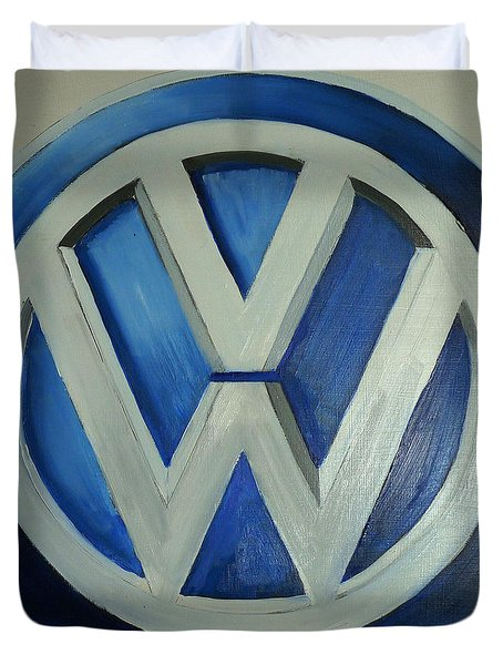 Vw Logo Blue Duvet Cover